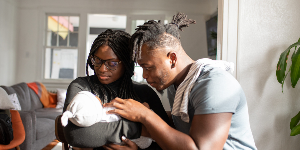 African American Family Adopting